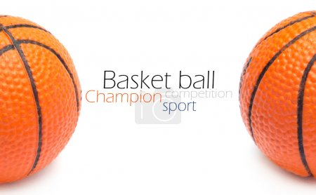 Orange basket ball, photo on the white background