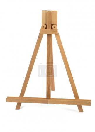 High quality artist easel isolated on white background