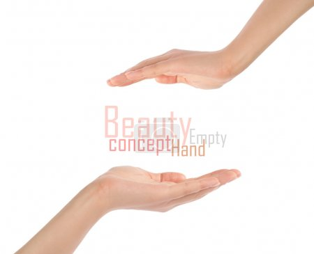 Close-up of beautiful woman's hand, palm up.