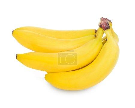 Photo pour Tas de bananes isolé sur fond blanc, un tracé de détourage - image libre de droit