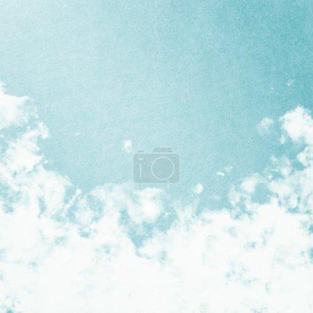 Photo for Grunge image of blue sky. - Royalty Free Image