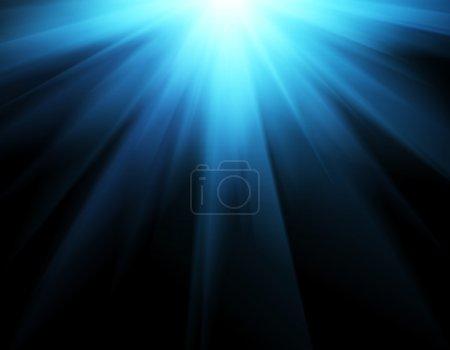 Photo pour Résumé fond bleu - image libre de droit