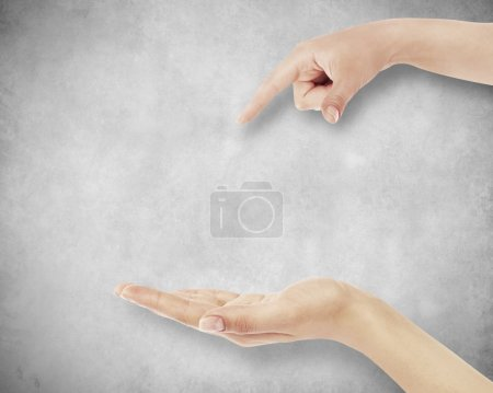 Photo for Hand on wall background - Royalty Free Image