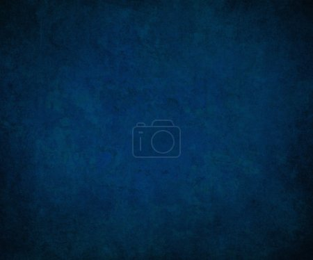 Photo for Royal blue background black border, cool blue color background book cover vintage grunge background texture, abstract gradient background, luxury template black brochure blue paper, blue wall paint - Royalty Free Image