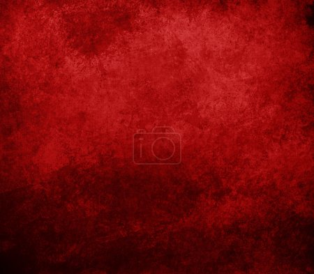 Photo for Abstract red background or Christmas background with bright center spotlight and black vignette border frame with vintage grunge background texture red paper layout design colorful graphic art - Royalty Free Image