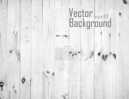 Vector White Wood Background