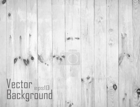 White Wood Background. Vector texture.