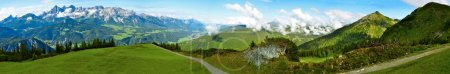 Beautiful panorama of Alps in summer