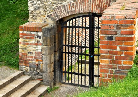 Photo for Old closed gate into the castle - Royalty Free Image