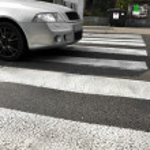 Pedestrian crossing in town, the Czech Republic
