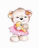 Süße Teddybär mit Baby Bär