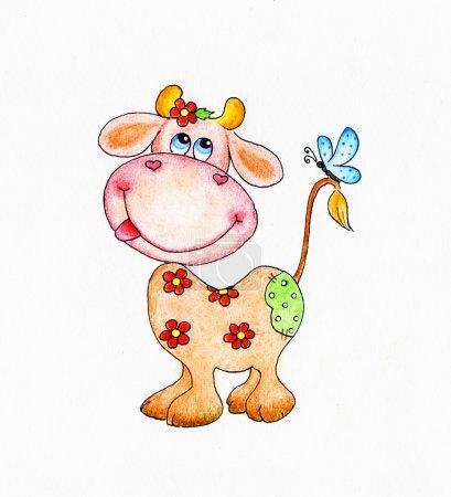 Photo pour Vache drôle - image libre de droit