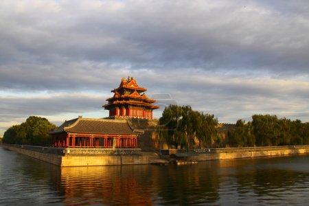 Palace turret under sunset