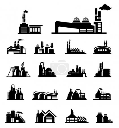 Illustration for Factory icon vector - Royalty Free Image