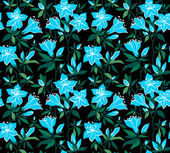 Magic vector seamless floral background