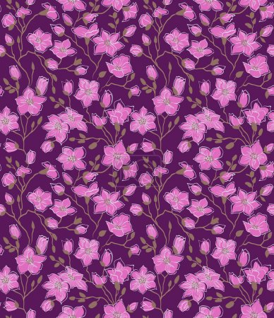 Spring seamless vector pattern