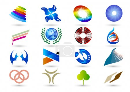 Illustration for Symbols can be used in various fields of the industry and as a trademark - Royalty Free Image