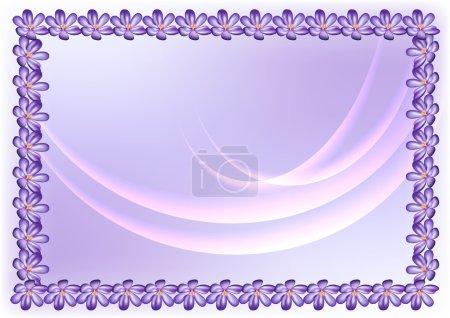 Illustration for Frame of flowers - Royalty Free Image