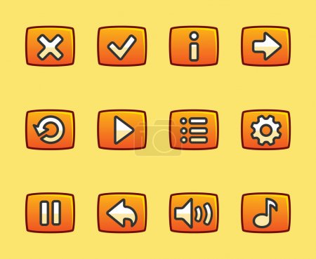 Orange buttons for game