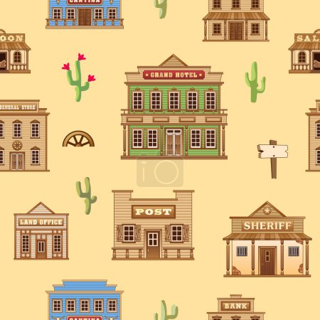 Wild West background.
