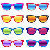 Set of different sun glasses for your designs