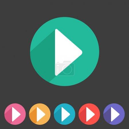 Illustration pour Plat style jouer icône pour votre conception de jeux. - image libre de droit