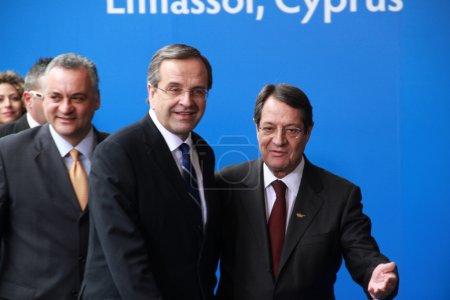 Antonis Samaras and Nicos Anastasiades