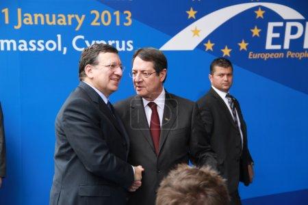 Jose Manuel Barroso and Nicos Anastasiades