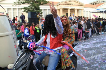Hippie. Carnival in Cyprus