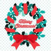Vánoce, nový rok vektorové blahopřání
