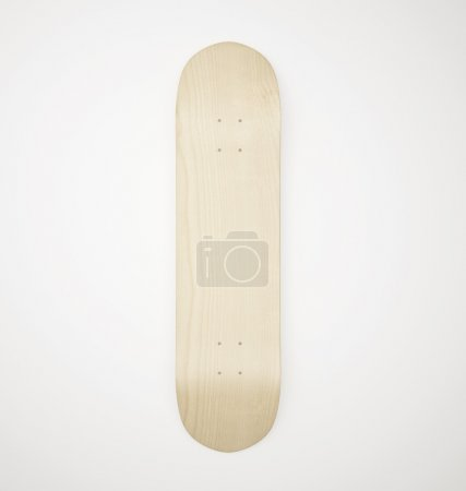Blank wooden skateboard deck