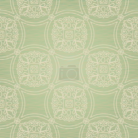 Seamless pattern with lacy ornament