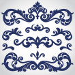 Vector set with ornament in Victorian style. Ornat...