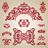 Vector set with ornament in Victorian style Ornate elements for design Toolkit for designer It can be used for decorating of wedding invitations greeting cards decoration for bags and clothes