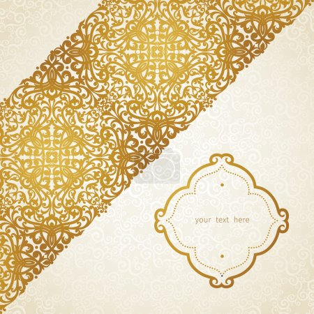 Vector golden pattern in Victorian style