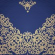 Vector seamless border in Victorian style. Element...