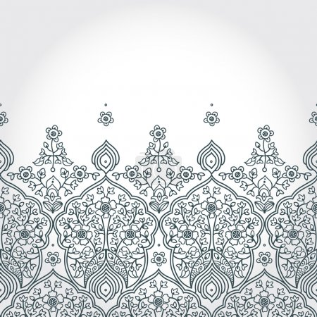 Seamless border with lacy ornament