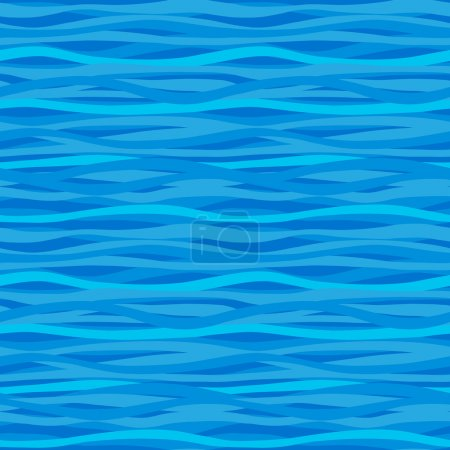 Illustration for Blue seamless pattern with waves. Marine waves background. It can be used for wallpaper, pattern fills, web page background, surface textures. - Royalty Free Image