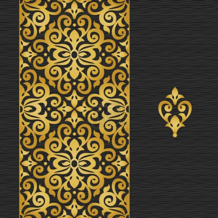 Illustration for Seamless border in Victorian style. - Royalty Free Image
