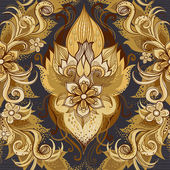 Traditional floral pattern in retro style Ornamental wallpaper Background in Victorian style