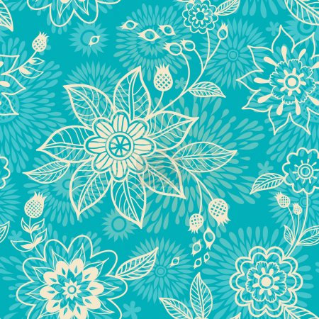 Ornate floral  texture.
