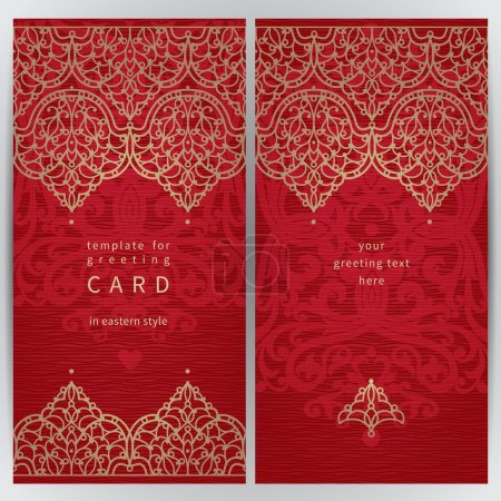 Ornate cards in Eastern style.