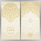 Vintage ornate cards in oriental style