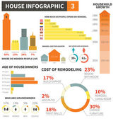 House infographic elements - easy to edit vector file objects are grouped Drawn in details info graphic template on household theme