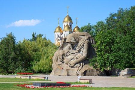 Monument Mothers sorrow in Mamaev Kurgan, Volgograd, Russia