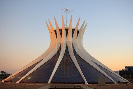 Photo for Catedral Metropolitana Nossa Senhora Aparecida - the Roman Catholic cathedral serving Brasília, Brazil, was designed by Oscar Niemeyer - Royalty Free Image
