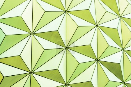 Abstract triangle background from the outside of a geodesic dome