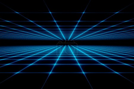 Photo for Abstract technology grid background - Royalty Free Image