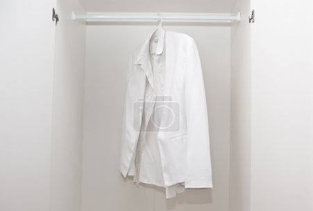 White shirt in wardrobe