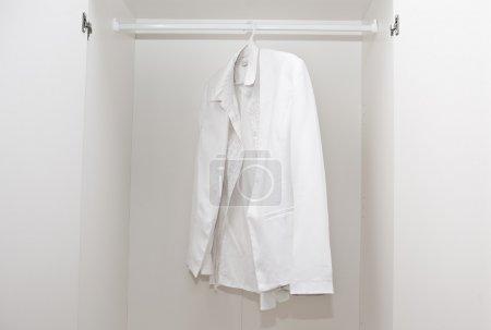 White shirt in wardrobe